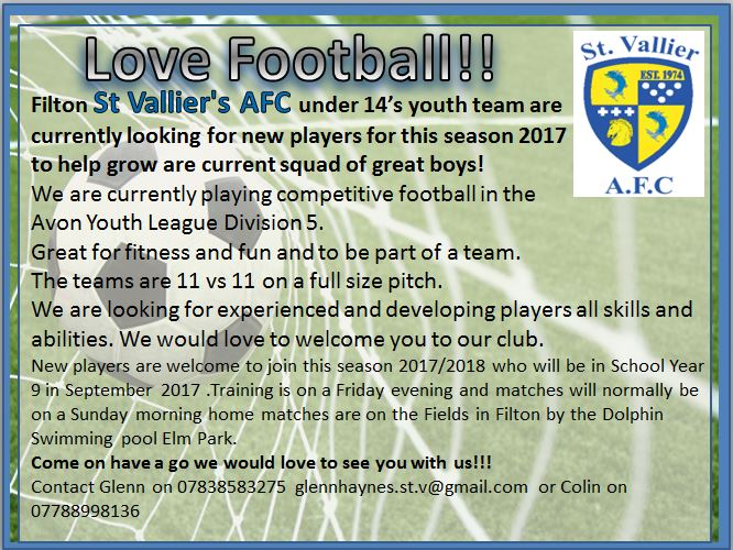 Local Football Club looking for players