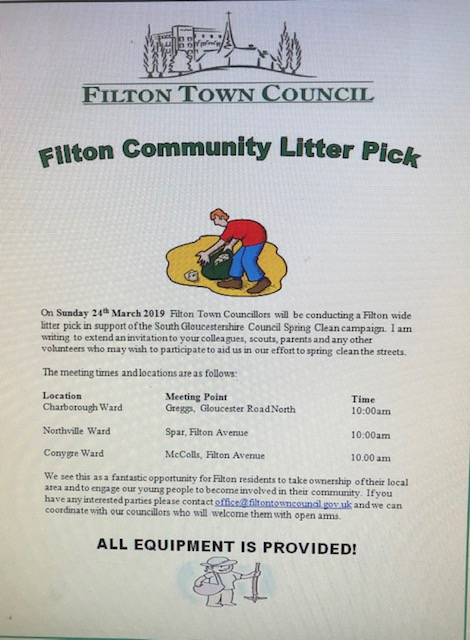 Successful Community Litter Pick March 24th 2019