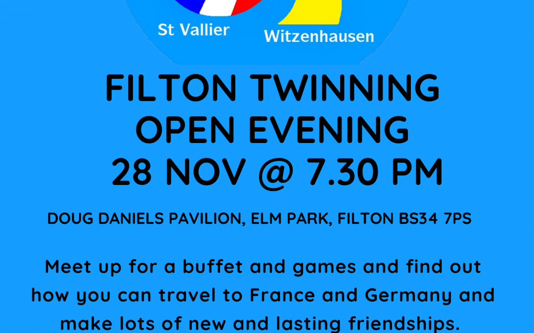Filton Twinning Open Evening 28th November at 7.30pm